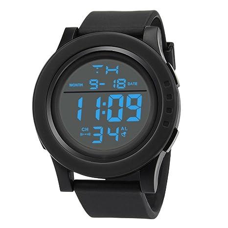 99108acb40ff STRIR Reloj Deportivo de Pulsera Resistente al Agua Digital LED Alarma  Calendario Reloj para Hombre Mujer