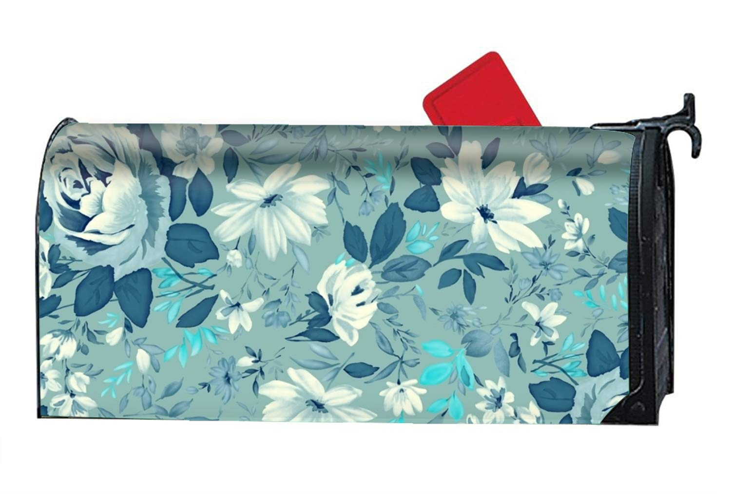 Summer Flower Magnetic Mailbox Cover - 9 x 21 Inches
