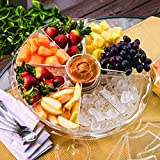DII 12-Piece Acrylic Compartment Iced Appetizer Set, 16.5 by 4.5-Inch, Clear