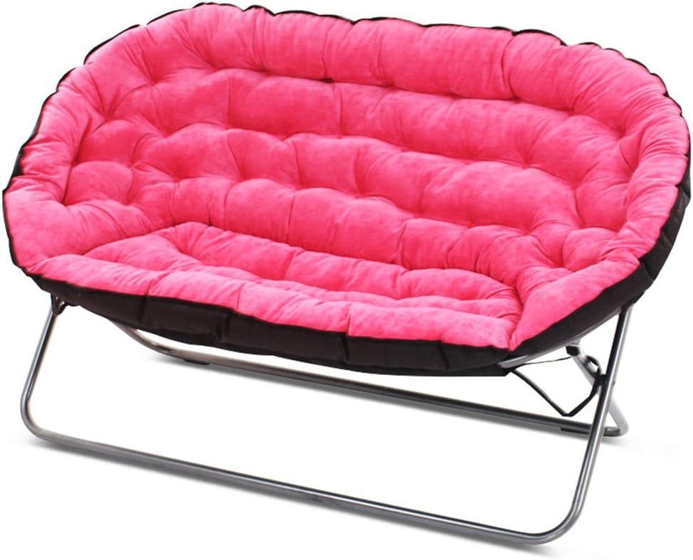 Colore : Marrone Scuro Lazy sofa Divano Pigro Pieghevole Camera da Letto Soggiorno Mini Bello Balcone Tempo Libero reclinabile Doppio LI Jing Shop