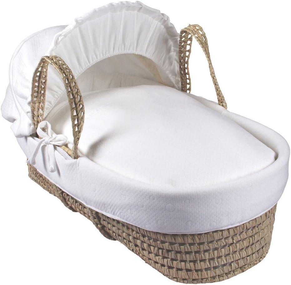 Clair de Lune–Sábana encimera algodón Candy Palma Moses cesta, crema