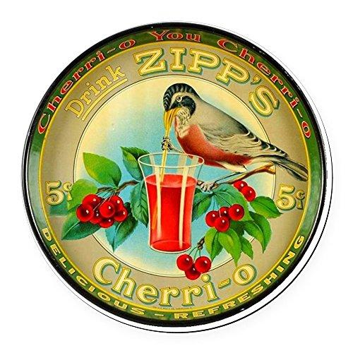 - CafePress - Cherry Cherrio Bird Vintage Soda Round Car Magnet - Round Car Magnet, Magnetic Bumper Sticker
