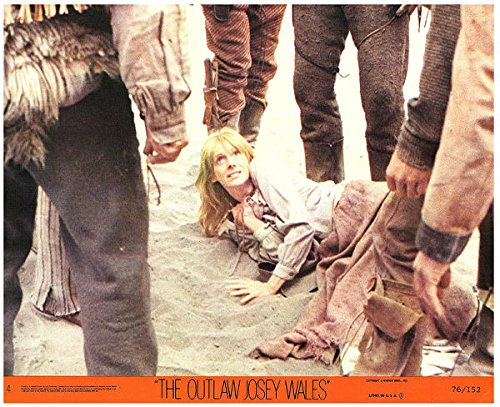 Outlaw Josey Wales Original Lobby Card 1976 Sondra Locke At Feet Of