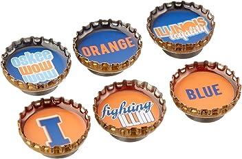 Kate Grenier Designs University of Illinois Bottle Cap Magnets