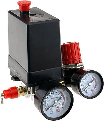 Three Phase Compressor Pressure Switch With Air Regulator /& Gauge /& Value