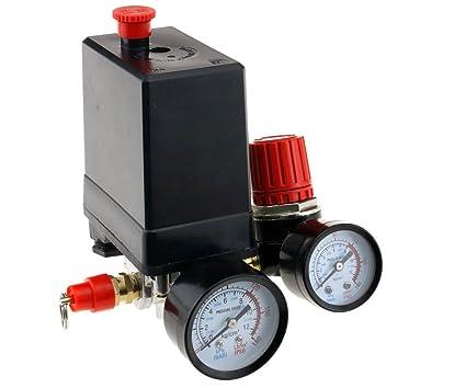 Compresor de aire Presostato trifásico, Válvula de control con regulador de aire, soldadura y