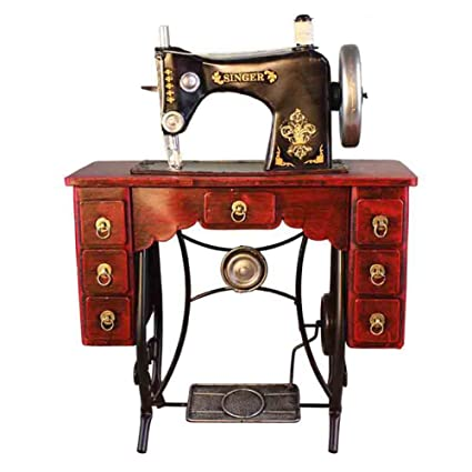 ZZYQ Modelo Vintage Hecho A Mano De Hierro Forjado Decoración Antigua Máquina De Coser Decoraciones para