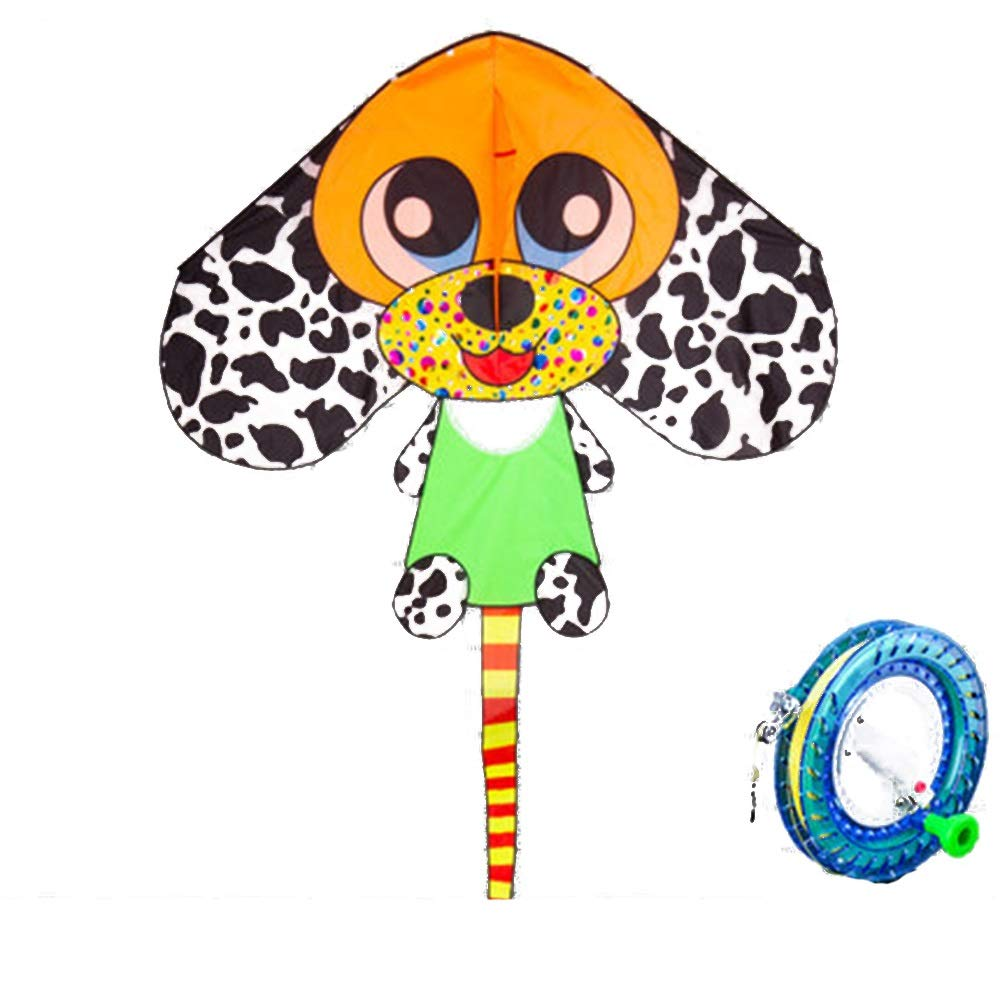 Kite,Flying Spring Toy Large Upscale Adult Beginner Cartoon Spotted Kite (with Reel) Kite line Wheel Puller Multi-Style Optional (Color : C) by Kite Products