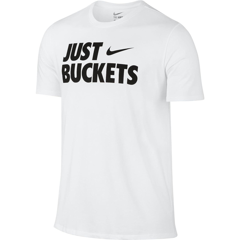 Nike Core Just Cubos Hombres de Baloncesto Camiseta Blanco/Negro ...