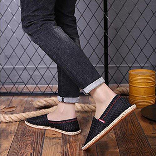 Chaussures Toile Étudiant à 1 Hommes Jour Mise Chaussures Creux Haute Version D'été Qualité Chaussures Respirant Casual Espadrilles AxIqfF