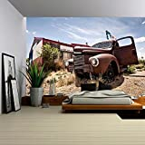 arizona highways restaurants - wall26 - Abandoned Restaraunt on Route 66 Road in Usa - Removable Wall Mural | Self-adhesive Large Wallpaper - 100x144 inches