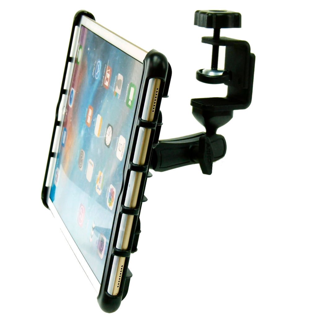 BuyBits Heavy Duty Cross Trainer Treadmill Tablet Clamp Mount Holder for iPad Pro 12.9 (2018)