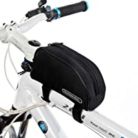 Tofern Fietsen fiets frametas bovenbuis frame tas voorbuis pannier - 8 kleuren - zwart