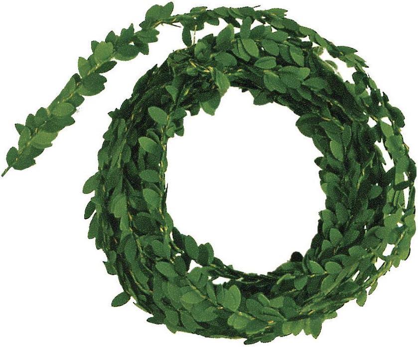 Timagebreze Ghirlanda di Bosso Finto Corona di Foglie Verdi Artificiali da 17,7 Pollici per La Decorazione della Festa Nuziale
