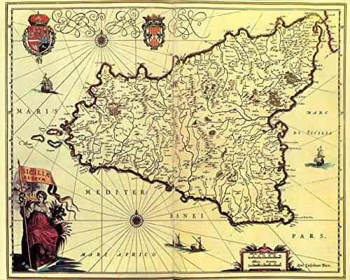 10x8 In Antique Map of the New World Art Print Repro.