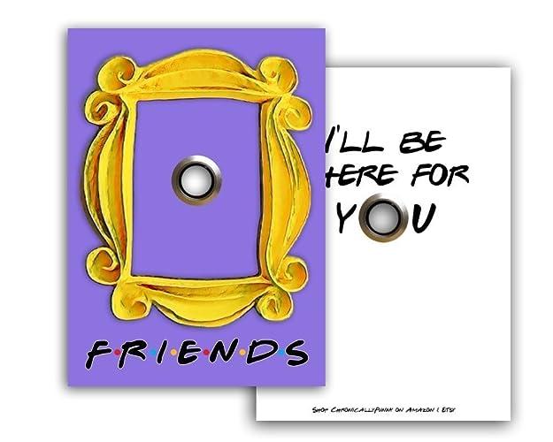 Amazoncom Friends Tv Show Peephole Purple Door Yellow Frame Ill