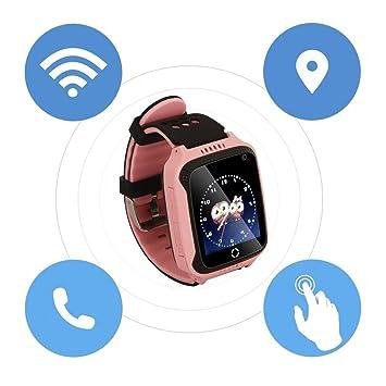 Reloj Inteligente M05 para niños Reloj GPS para Apple para teléfonos electrónicos Android (Color: Rosa): Amazon.es: Electrónica