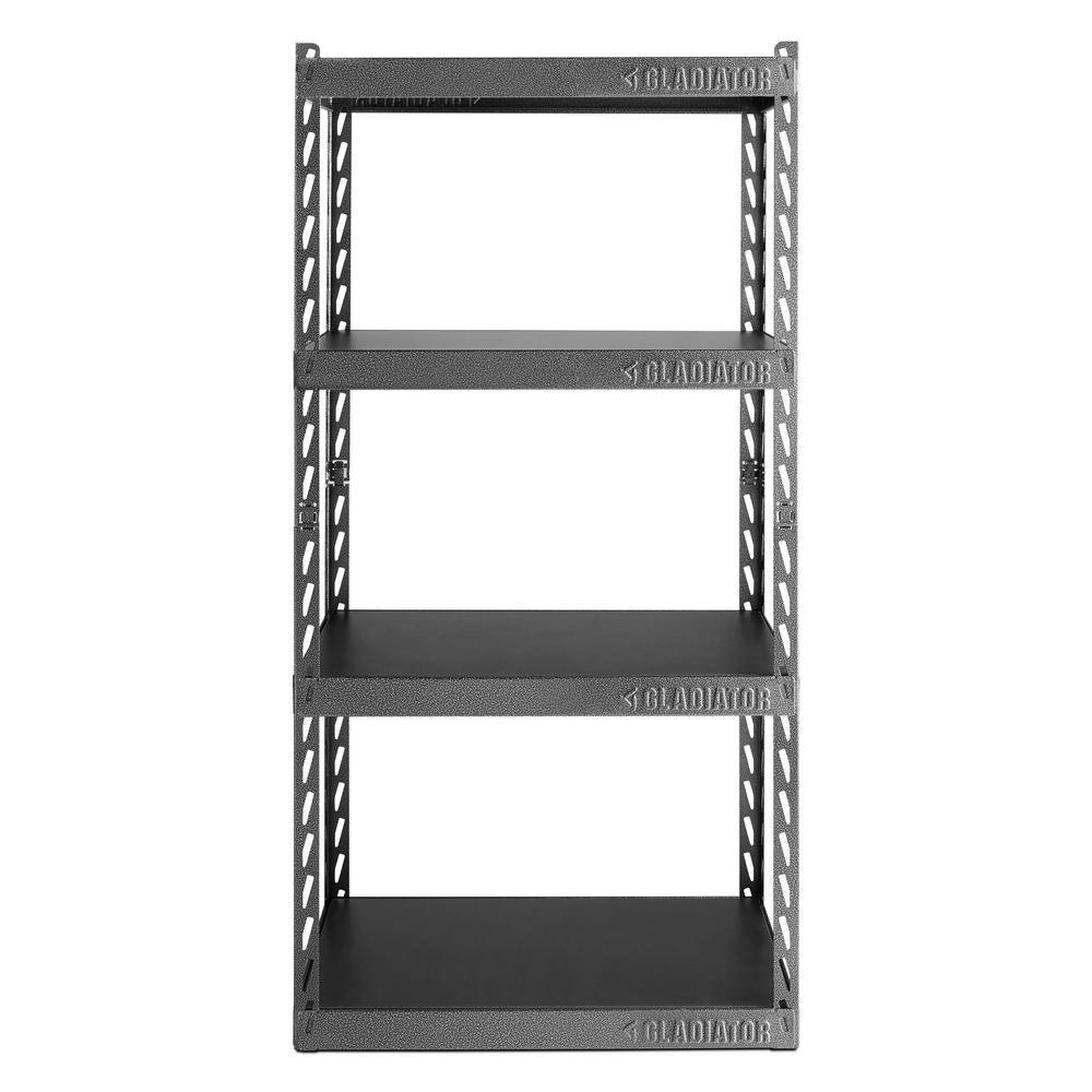 """Gladiator GARC304RGG 30"""" Wide EZ Connect Rack with Four 15"""" Deep Shelves"""