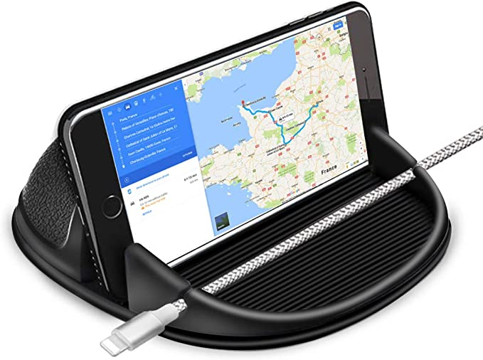 Samsung Galaxy S9//S8//S7 Clip GPS//Cell Phone Holder for Dashboard Dashboard GPS Holder Mounting in Vehicle Anti-Slip Desk Phone Stand for iPhone Xs//8//7//6s Plus Cell Phone Holder for Car Maxcio Car Phone Mount with 4 Cable Clip Organizer