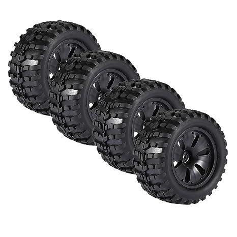MagiDeal 4 Piezas 1/10 RC Escalada Coche Monster Truck Ruedas Neumáticos para HPI Savage