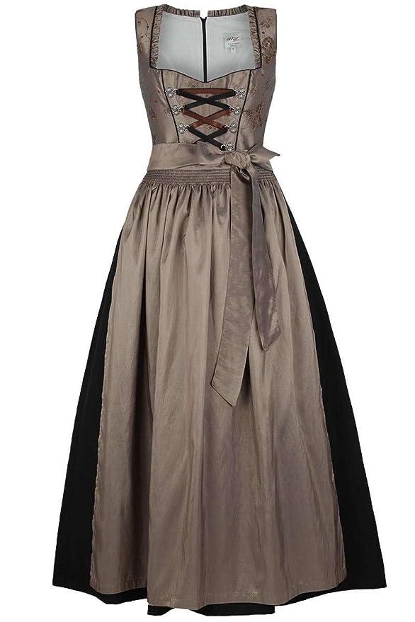 Vestido de tirolesa para mujer, largo y solemne, color marrón ...