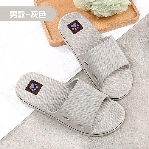 de Interior Damas los Para Zapatillas de Zapatillas gray de Las Suave Piso YMFIE Amantes Verano Pavfwqf