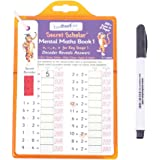 ZooBooKoo Mental Maths Book 1 with Secret Decoder - Over 200 Sums - Addition, Subtraction, Multiplication, Division for Key Stage One