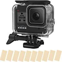 T Tersely Housing Case Cover, 16in1 Anti-Fog Inserts Strip for GoPro Hero 8 (2019) Black, Waterproof Case Diving…