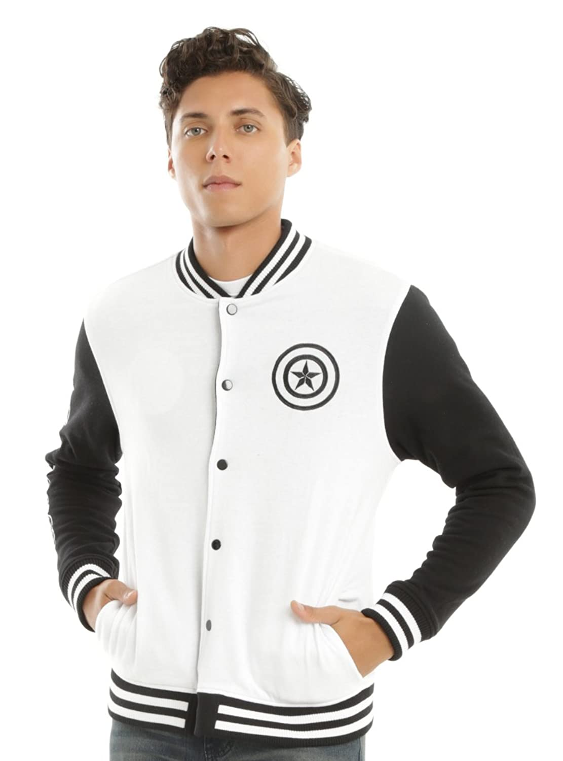 Captain America: Civil War Adult Tony Stark Iron Man Reversible Varsity Jacket - DeluxeAdultCostumes.com