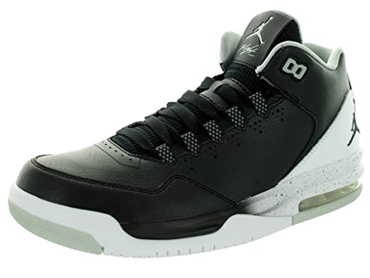Nike Jordan Mens Jordan Flight Origin 2 BlackBlackWhiteGrey Mist Basketball