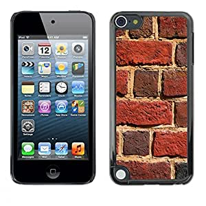 Jordan Colourful Shop - Brick Wall Red Building Sun For Apple iPod Touch 5 Custom black plastic Case Cover