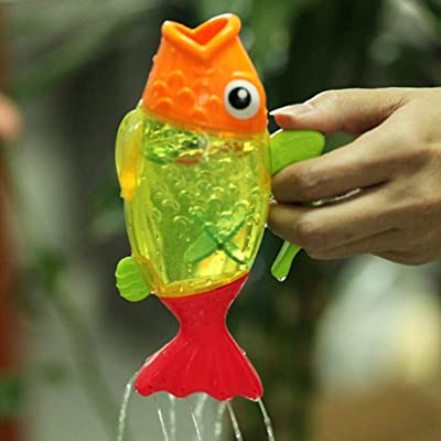 Kekailu Bath Toy,Temperature Changing Color Cute Fish Kids Baby Bath Swimming Water Sprinkler Toy: Home & Kitchen