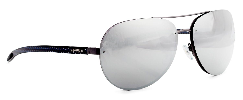 FBI Men's Aviator TAC Polarized Designer Sunglasses with Carbon Fiber Temple, 100% UV BLOCK, 14109
