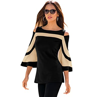 3bf8a5c91e8 Top Femme Haut Femme Chic col V Slim et Mode Automne Hiver Pull-Over Casual