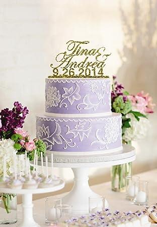 Designer Personalisiertem Namen Und Custom Hochzeit Datum Glitzer