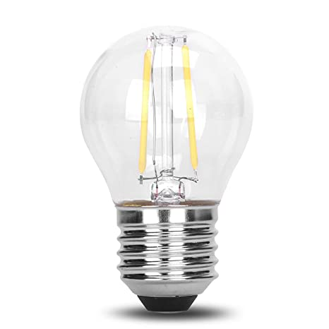 G45 Classic Shape LED Edison String Filament 2W COB Light Bulb E26 Medium Base Rope Lamp