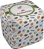 Sports Cube Pouf Ottoman - 18'' (Personalized)