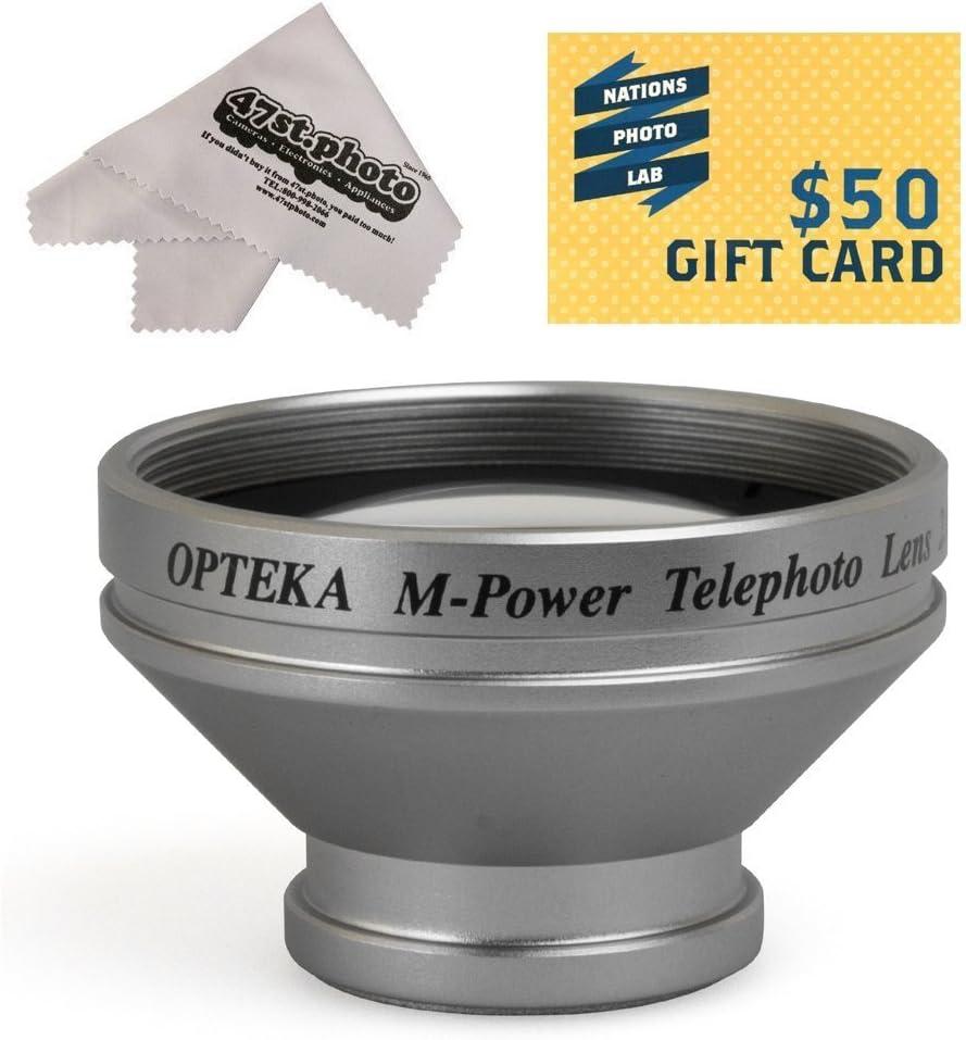 Opteka 2X Telephoto Converter Magnetic Magnet Lens for Photosmart 433 935 M507 812 L-500V Digital Camera R707