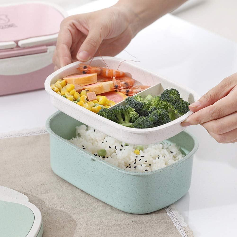 bo/îte /à nourriture herm/étique Hankyky Bo/îte /à lunch de style japonais avec 2 compartiments bo/îte /à lunch multi-grille allant au micro-ondes bo/îte /à bento /écologique sans BPA