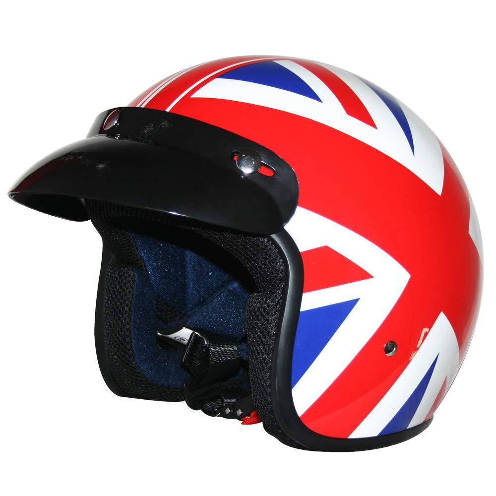 Daisy XL 61-62cm Leopard LEO-604 Scooter Motorcycle Motorbike Open Face Crash Helmet Road Legal