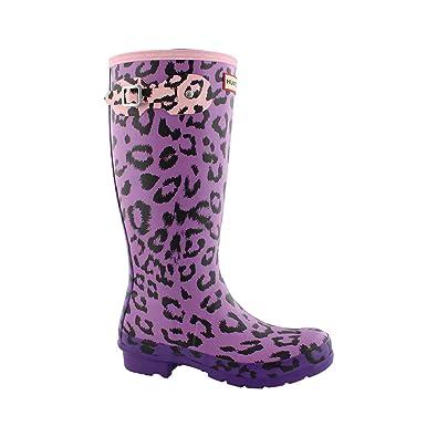 306602dc4ae0 Amazon.com | Hunter Boots Girls' Original Leopard Print Rain Boot | Rain  Boots