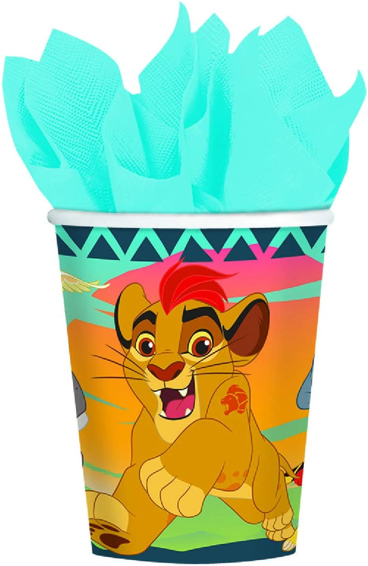 amscan Lion Guard 9 oz. Paper Cups 8 Count Lion King Birthday Party Supplies