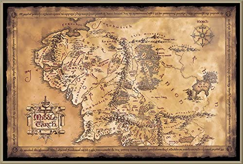 Canvas Picture Print Middle Earth Mountain Large Poster Lord Of The Rings