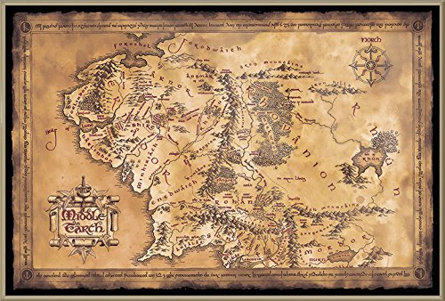 POSTER STOP ONLINE The Hobbit/The Lord Of The Rings - Framed