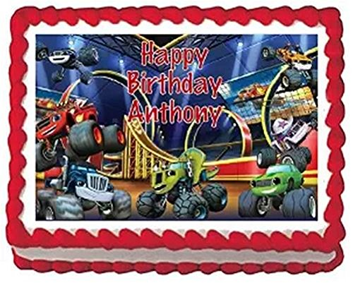 Blaze and the Monster Machines Edible Frosting Sheet Cake Topper - 1/4 - Blaze Images