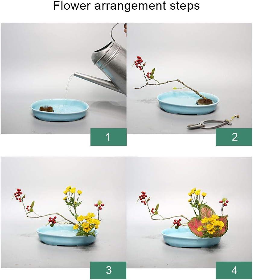 WANDIC Lot de 2 Supports de Fleurs Ronds en Forme de Grenouille
