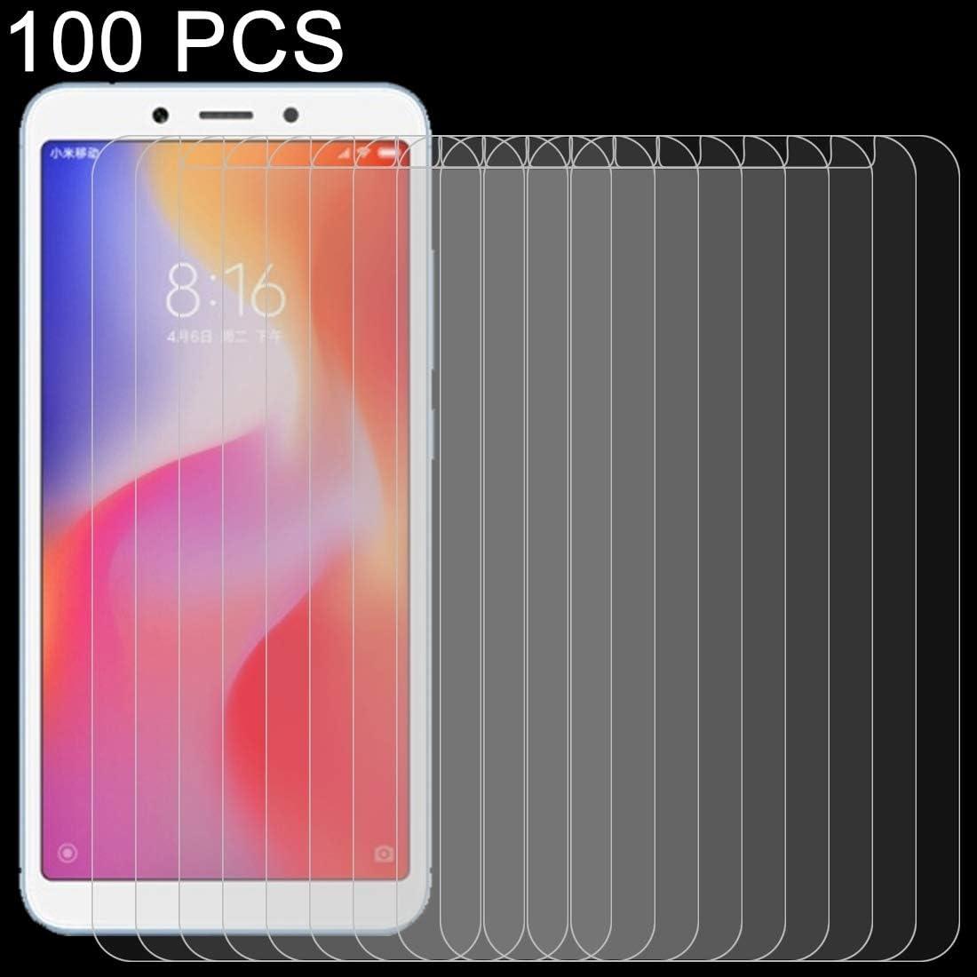 ZHANGYUNSHENG 100PCS 9H 2.5D Tempered Glass Film for Xiaomi Redmi 6A zys
