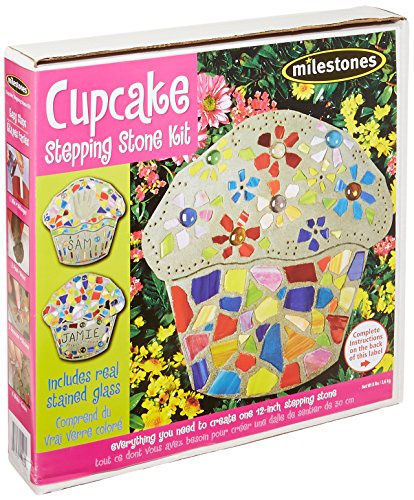 Midwest Products Cupcake Stepping Stone Kit (Stick Stained Glass Small)