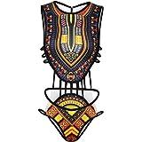 Letiane Women's African Tribal Print Bikini High Cut Monokini One Piece Swimsuit Backless Swimwear