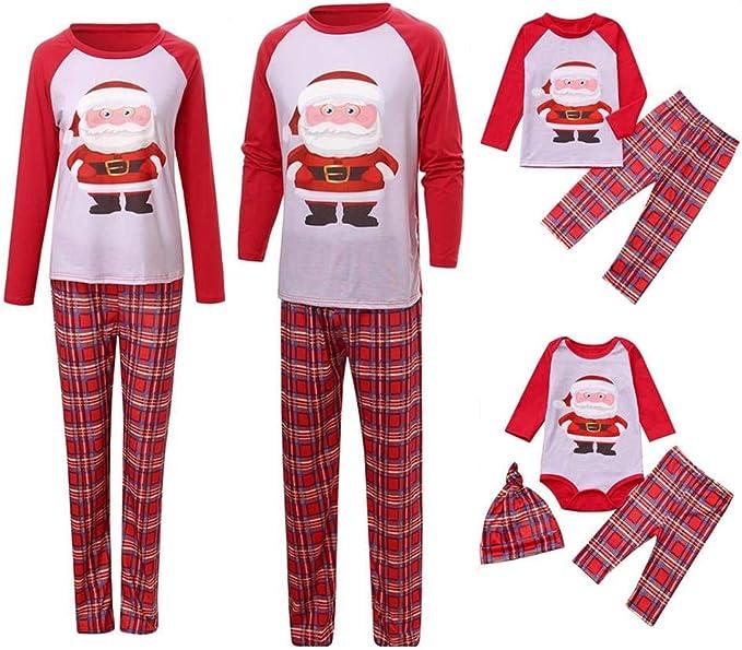 Surfiiy Pijama Familia Navidad Set Niños Unisex Dos Piezas Papá ...